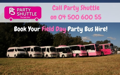 Getting to field Day 2018 on Party Shuttle Bus